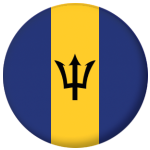 Barbados Country Flag 25mm Pin Button Badge